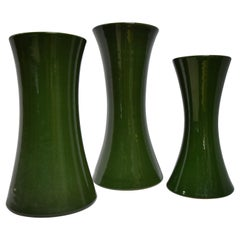19th Century Floral Competition Vases, Set of 3
