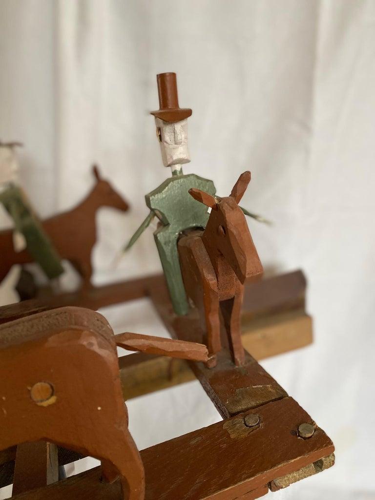 American Mid 20th Century Folk Art Cowboy Rodeo Whirligig For Sale