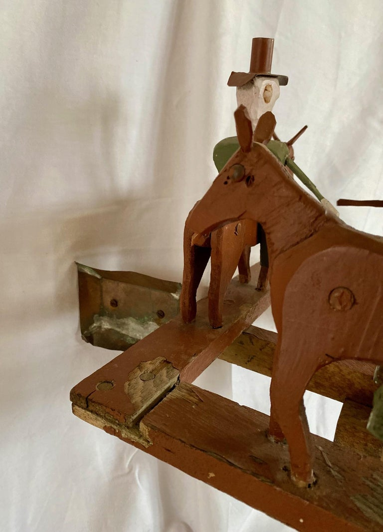 Mid 20th Century Folk Art Cowboy Rodeo Whirligig In Good Condition For Sale In Nantucket, MA
