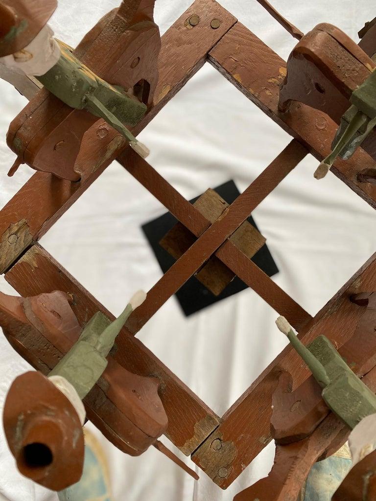 Mid 20th Century Folk Art Cowboy Rodeo Whirligig For Sale 2