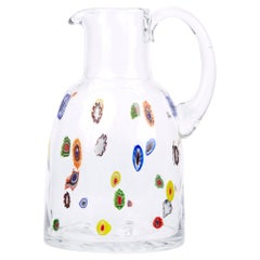 Mid-20th Century Fratelli Toso Murano Scattered Murine Glass Water Jug