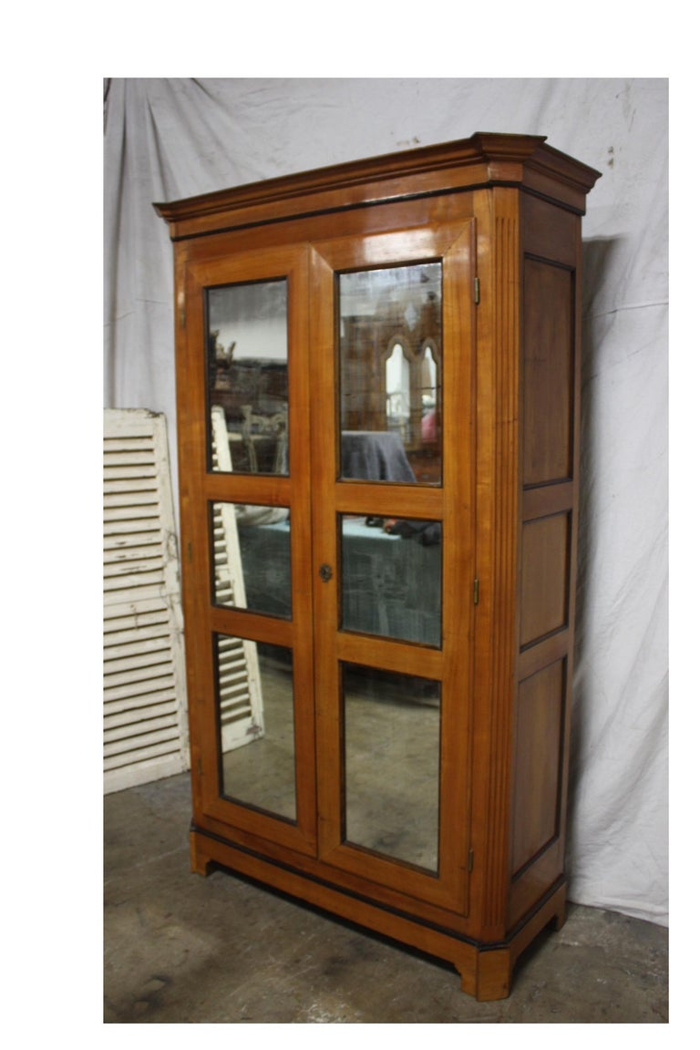 Cherry Mid-20th Century French Armoire For Sale