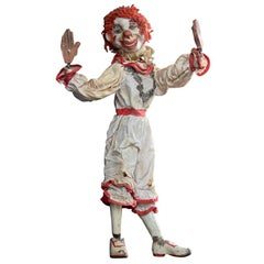 Mid-20th Century French Articulated Clown Marquette