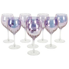 Mid-20th Century French Barware / Wine / Water Service / Eight People