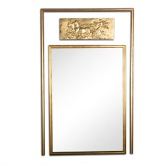 Mid-20th Century French Classical Revival Trumeau Mirror