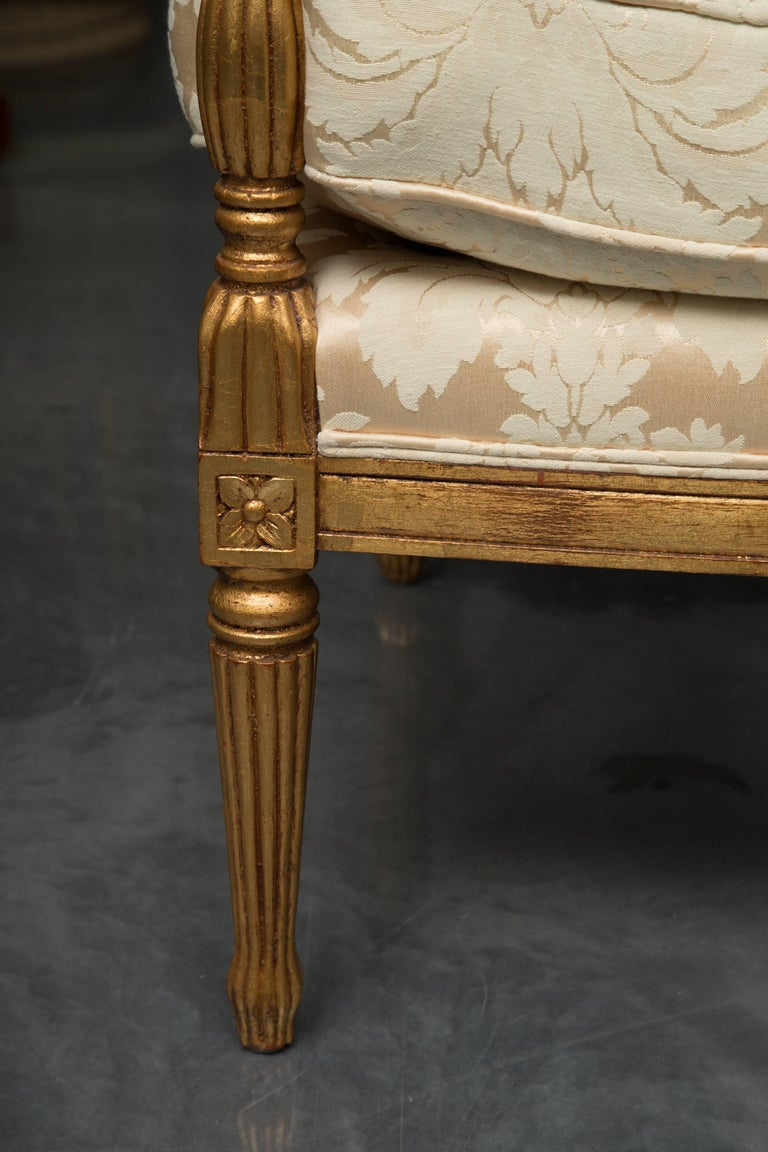 Mid-20th Century French Louis XVI Fauteuil Chairs For Sale 5