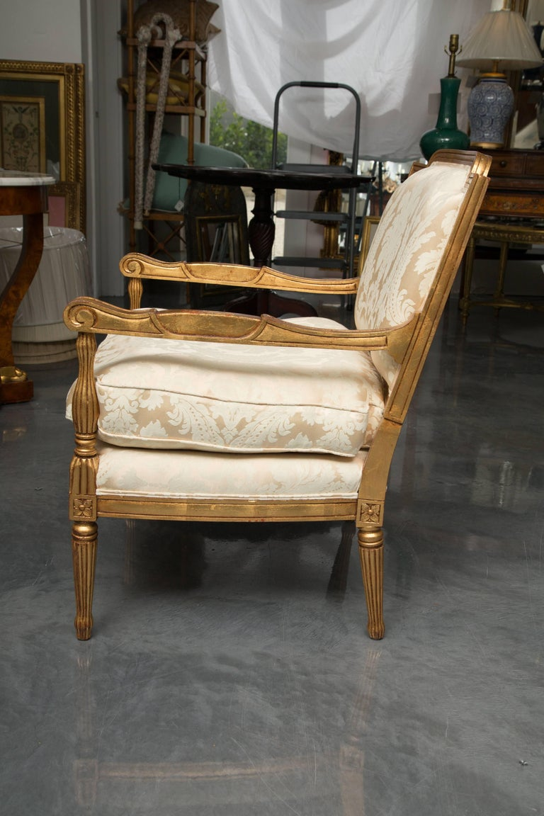 Mid-20th Century French Louis XVI Fauteuil Chairs In Good Condition For Sale In WEST PALM BEACH, FL