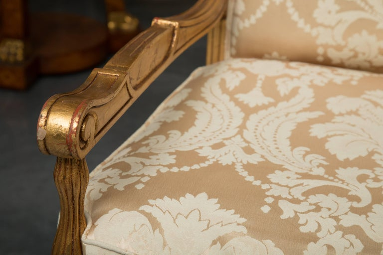 Mid-20th Century French Louis XVI Fauteuil Chairs For Sale 2