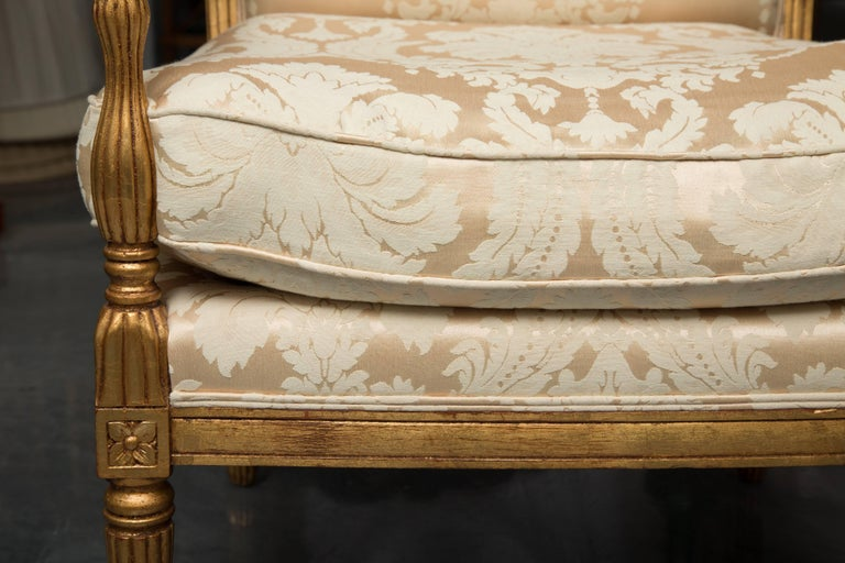Mid-20th Century French Louis XVI Fauteuil Chairs For Sale 3