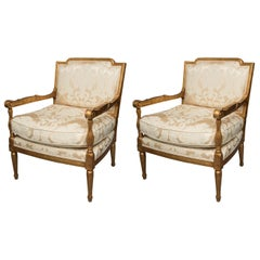 Mid-20th Century French Louis XVI Fauteuil Chairs