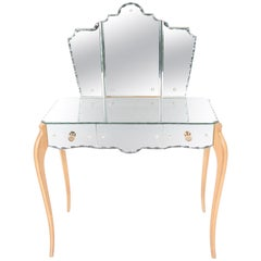 Mid-20th Century French Mirror Dressing Table