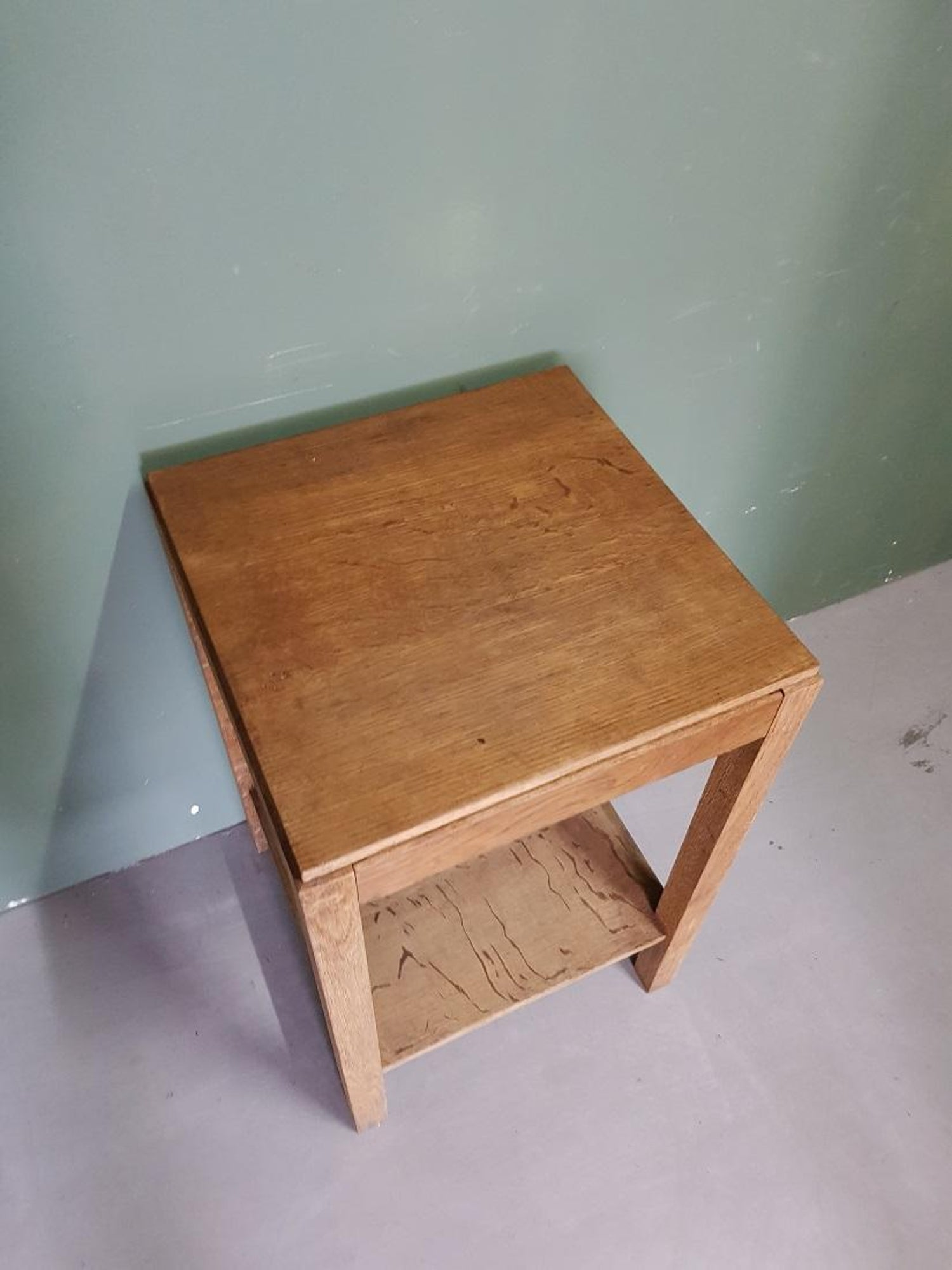 Blank Eiken Side Table.Mid 20th Century French Oak Side Table With Hidden Drawer
