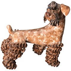 Mid-20th Century French Pottery Sculpture of Zwergschnauzer by Prunet