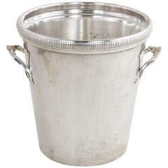 Mid-20th Century French Silver Plate Champagne Bucket, Wine Chiller