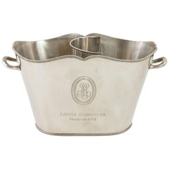 Mid-20th Century French Silver Plate Louis Roederer Two Bottle Champagne Bucket