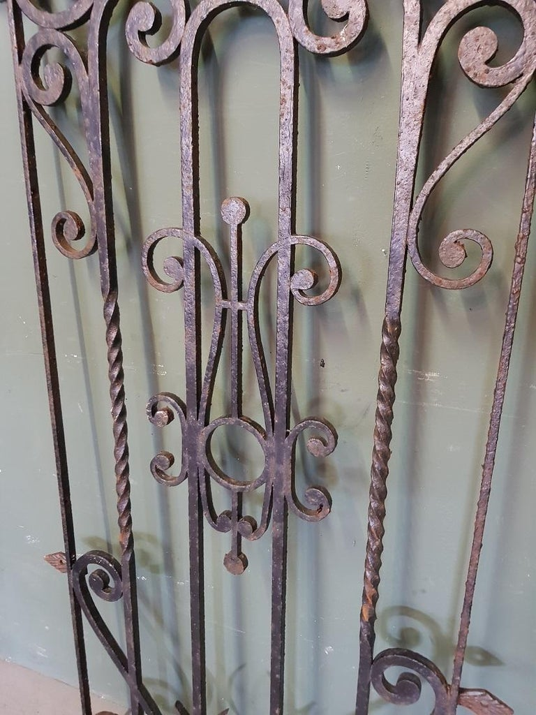 Mid-20th Century French Wrought Iron Door Grill In Good Condition For Sale In Raalte, NL