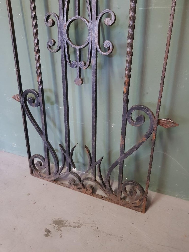 Mid-20th Century French Wrought Iron Door Grill For Sale 1