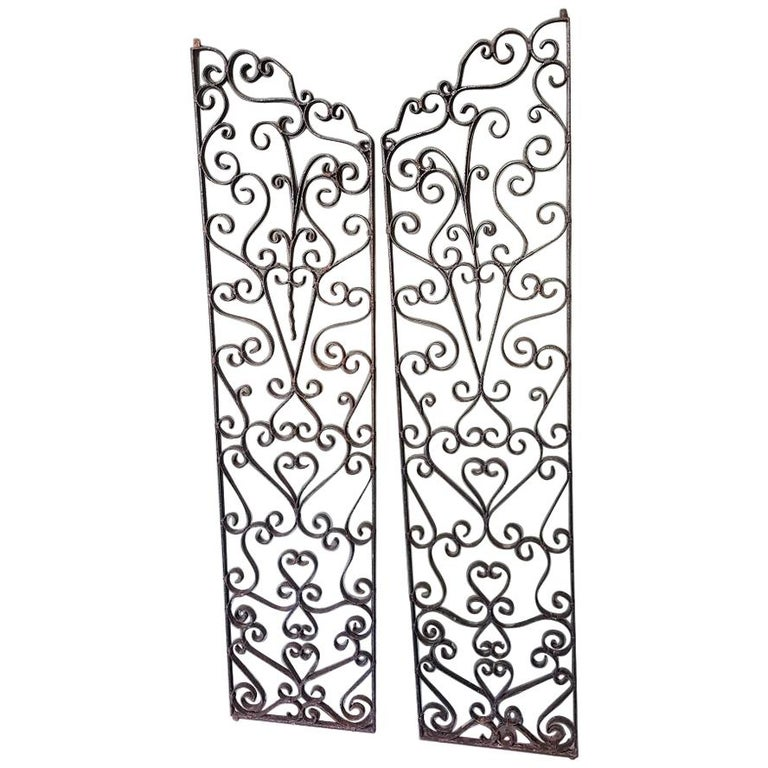 Mid-20th Century French Wrought Iron Wine Cellar Doors at