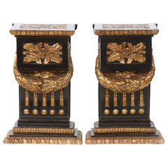 Mid-20th Century Gilt Bronze Pedestal / Side Tables