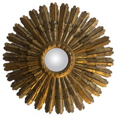 Mid-20th Century Gold Sun Mirror