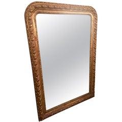 Mid-20th Century, Golden Wood Louis Philippe Period Mirror