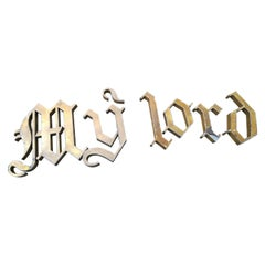 Mid-20th Century Gothic Font Letters, Vintage Infant's Shop Sign 'My Lord', 1940