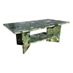 Mid-20th Century Green Marble from the Alps Smoking Table Italian Style