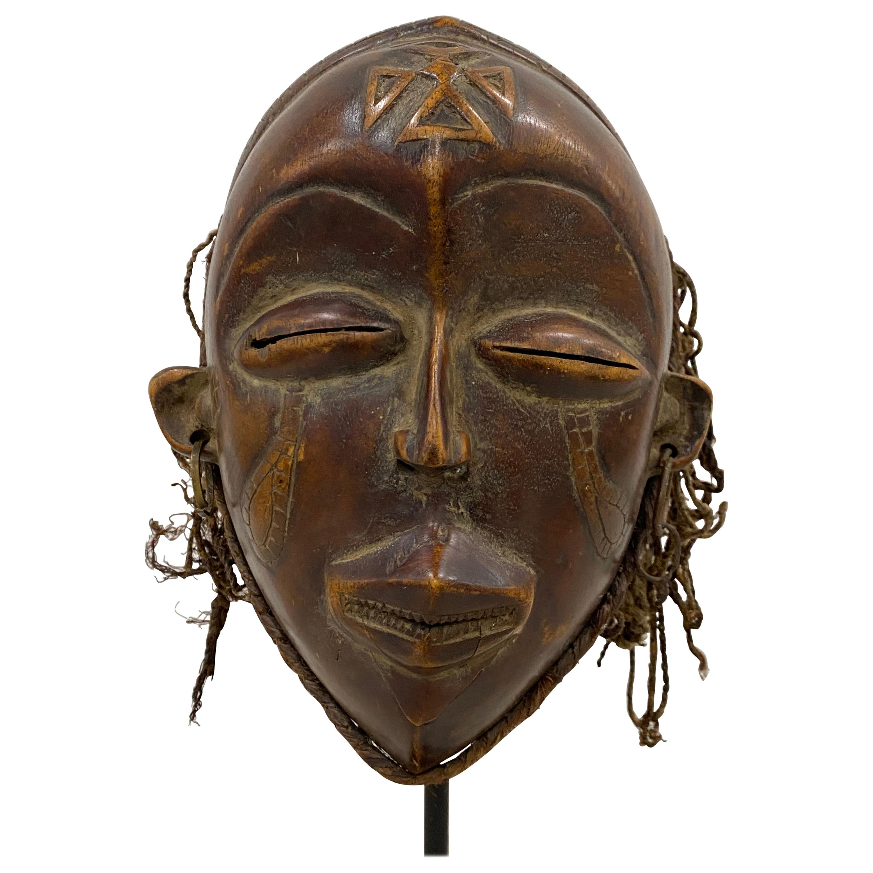 Mid 20th Century Hand Carved African Tribal Mask