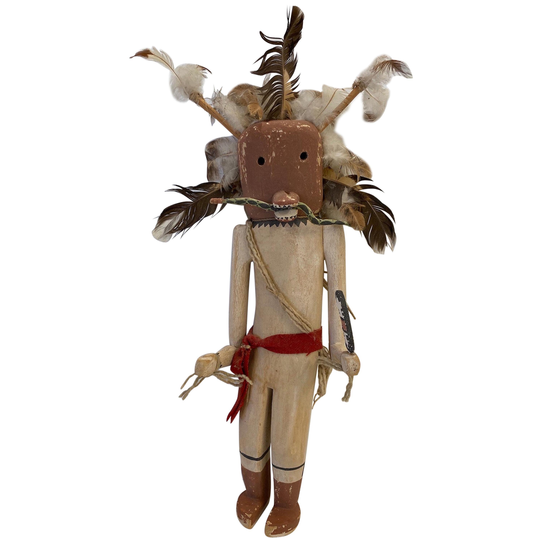"Mid-20th Century, Hand Carved, Hopi ""Saviki"" Kachina Doll"