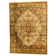 Mid-20th Century Hand Knotted Silk Area Rug