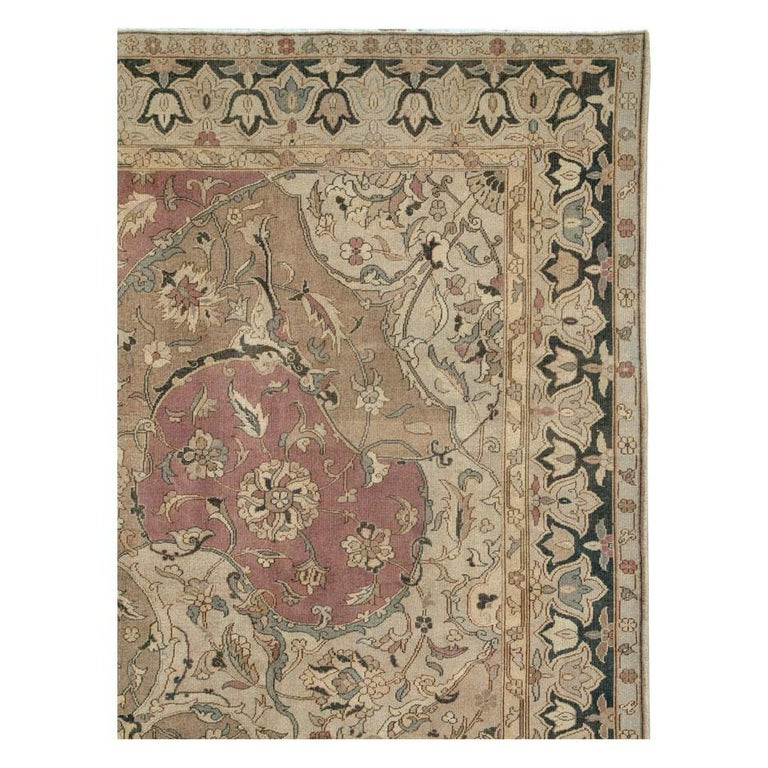 Victorian Mid-20th Century Handmade Indian Lahore Room Size Carpet, circa 1930 For Sale
