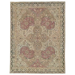 Mid-20th Century Handmade Indian Lahore Room Size Carpet, circa 1930