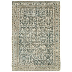 Mid-20th Century Handmade Persian Modern Farmhouse Accent Rug in Grey