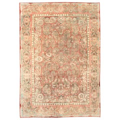 "Mid-20th Century Handmade Persian ""American"" Sarouk Large Room Size Carpet"