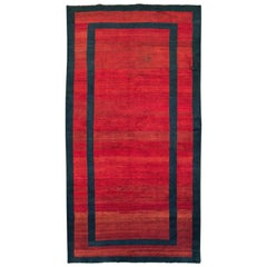 Mid-20th Century Handmade Persian Art Deco Accent Rug in Red