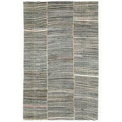 Mid-20th Century Handmade Persian Flat-Weave Kilim Modern Farmhouse Accent Rug