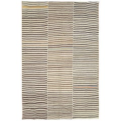 Mid-20th Century Handmade Persian Flat-Weave Kilim Tribal Accent Rug