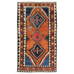 Mid-20th Century Handmade Persian Gabbeh Tribal Accent Rug