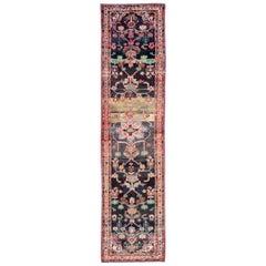 Mid-20th Century Handmade Persian Hamadan Runner Rug