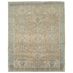 Mid-20th Century Handmade Persian Karajeh Room Size Carpet in Grey and Brown