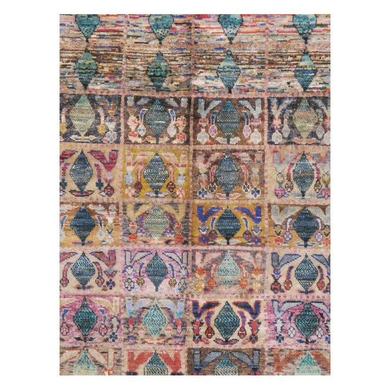 A vintage Persian Kashan small room size accent rug handmade during the mid-20th century.