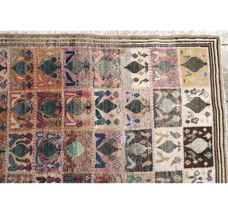 Mid-20th Century Handmade Persian Kashan Small Room Size Accent Rug For Sale 1