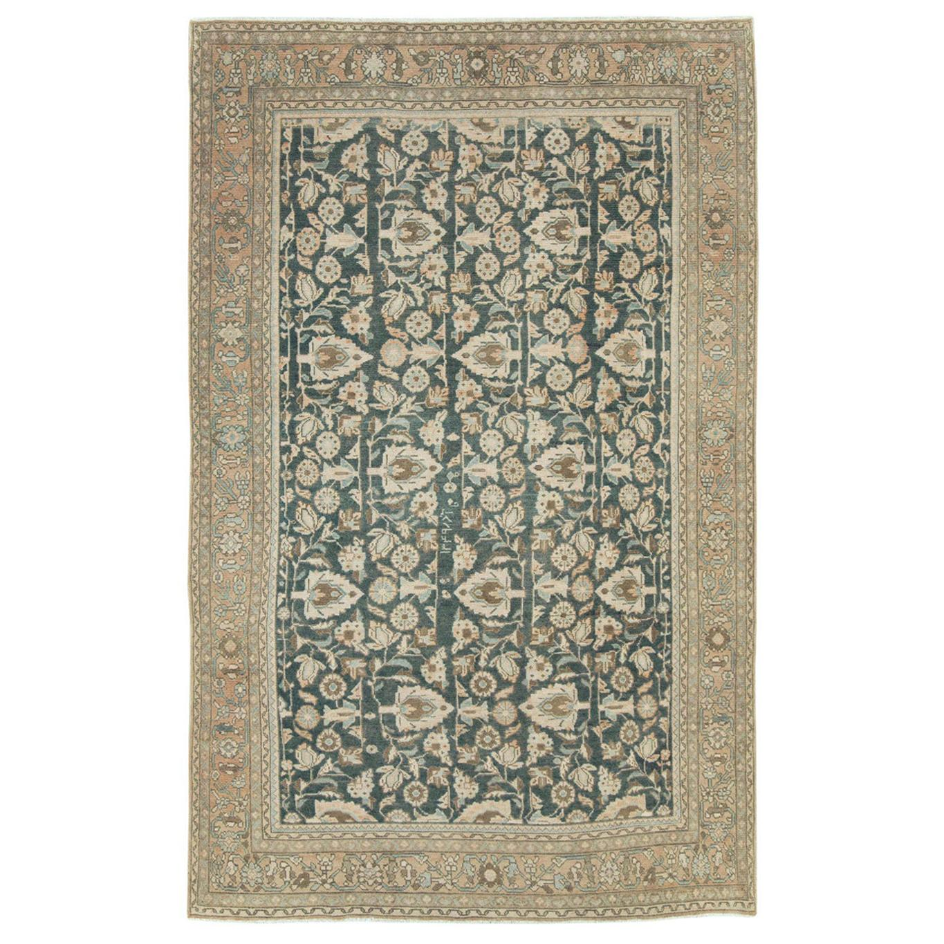 Mid-20th Century Handmade Persian Malayer Accent Rug