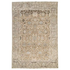 Mid-20th Century Handmade Persian Malayer Rustic Accent Rug