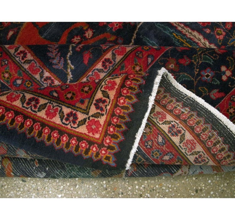 Mid-20th Century Handmade Persian Mashad Pictorial Room Size Carpet, circa 1930 For Sale 4