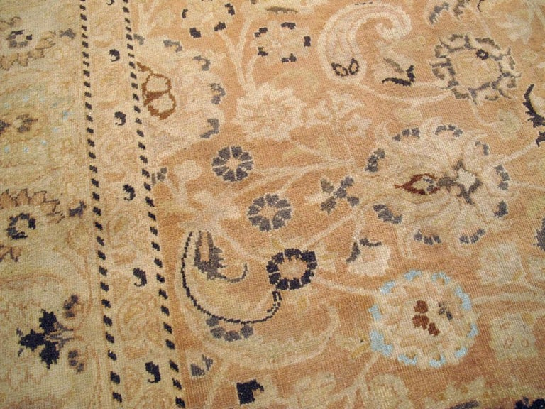 Wool Mid-20th Century Handmade Persian Mashad Room Size Accent Rug For Sale