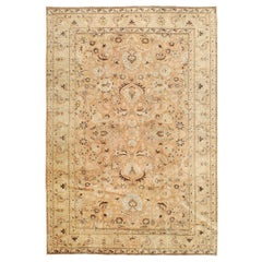 Mid-20th Century Handmade Persian Mashad Room Size Accent Rug