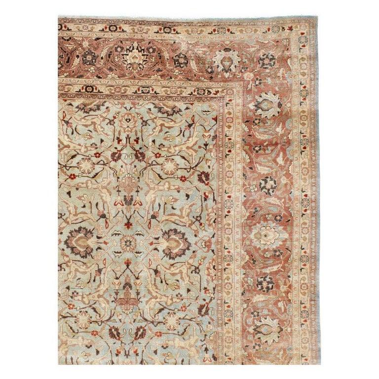 Victorian Mid-20th Century Handmade Persian Mashad Room Size Carpet, circa 1930 For Sale