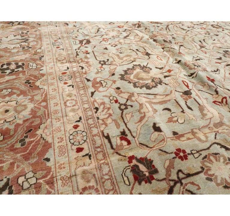 Wool Mid-20th Century Handmade Persian Mashad Room Size Carpet, circa 1930 For Sale