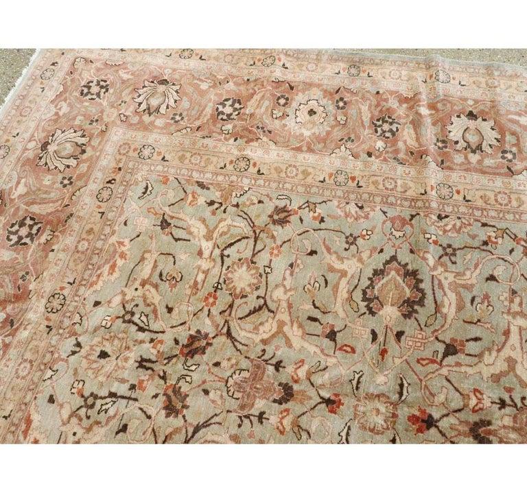 Mid-20th Century Handmade Persian Mashad Room Size Carpet, circa 1930 For Sale 1